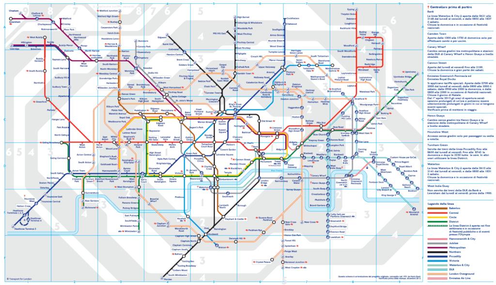 Metro Londra mappa