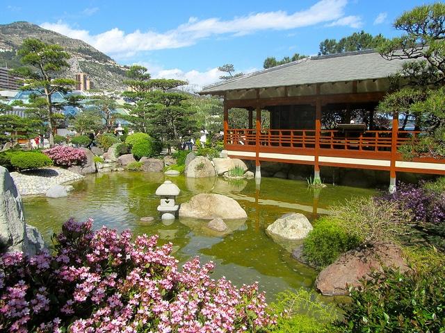 il giardino giapponese a monte carlo monaco