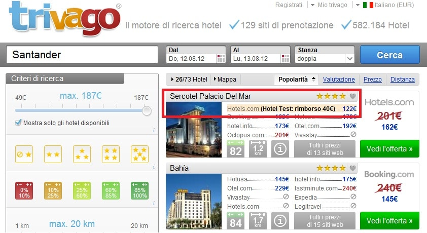 Hotel Tester Trivago