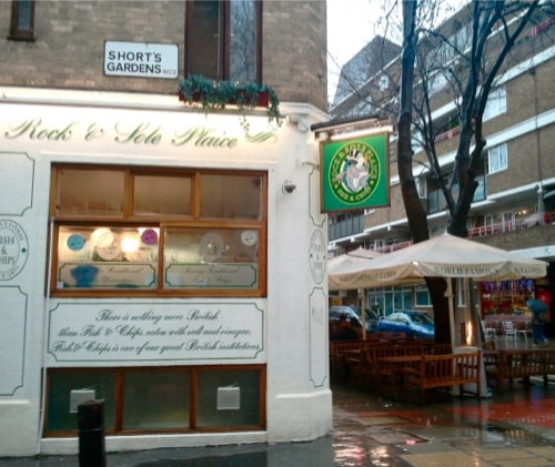 miglior fish and chips a londra