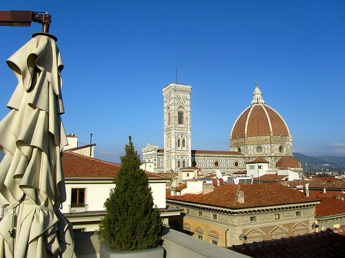Stupendo panorama di Firenze dalla terrazza della Rinascente
