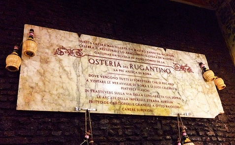 antica osteria rugantino trastevere