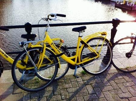 yellow bike amsterdam