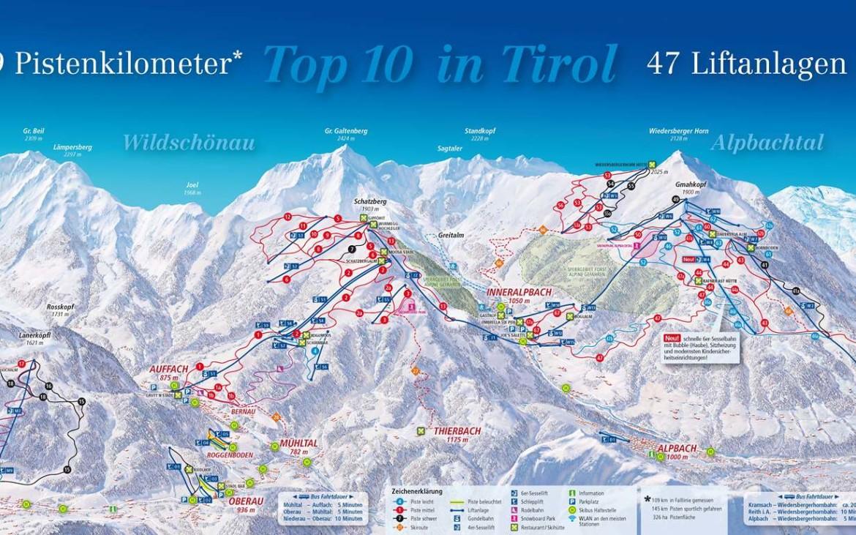 ski juwel alpbachtal map