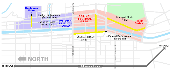 Takayama Festival Map