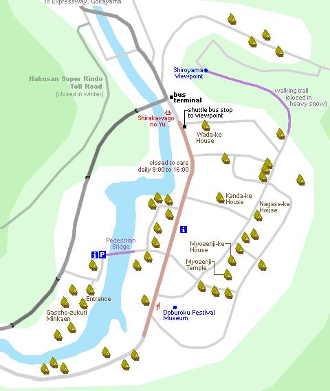 mappa shirakawago
