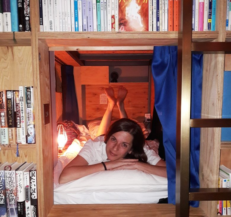 dormire in una libreria