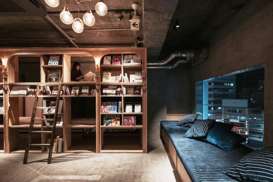 Dormire in una libreria in Giappone