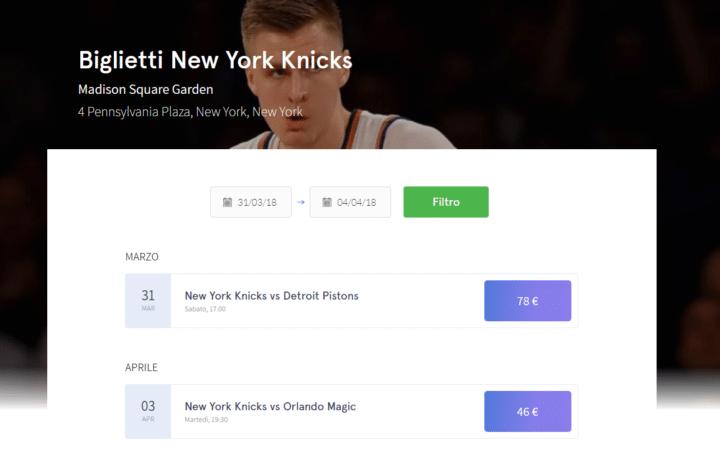 Biglietti NBA