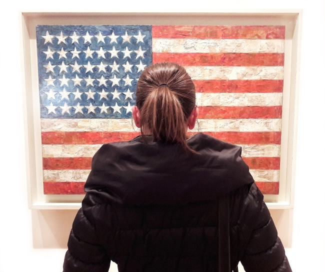 moma new york opere Jasper Johns flag