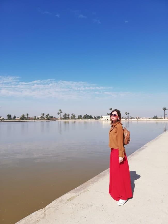 Marrakech piscina giardini menara