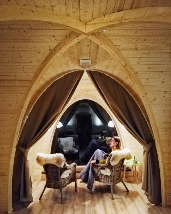 Kirkenes SnowHotel Northern Lights cabin