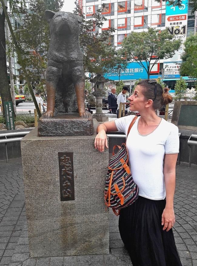 statua di Hachiko Tokyo