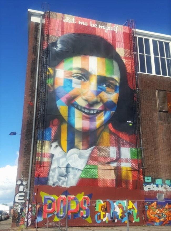 street art amsterdam anne frank