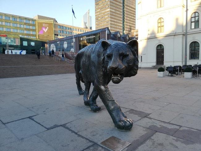 oslo statua tigre