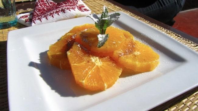 Macedonia marocchina arance