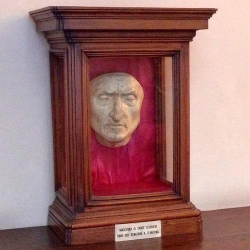 maschera mortuaria dante alighieri