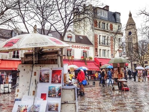 place du tertre montmartre parigi
