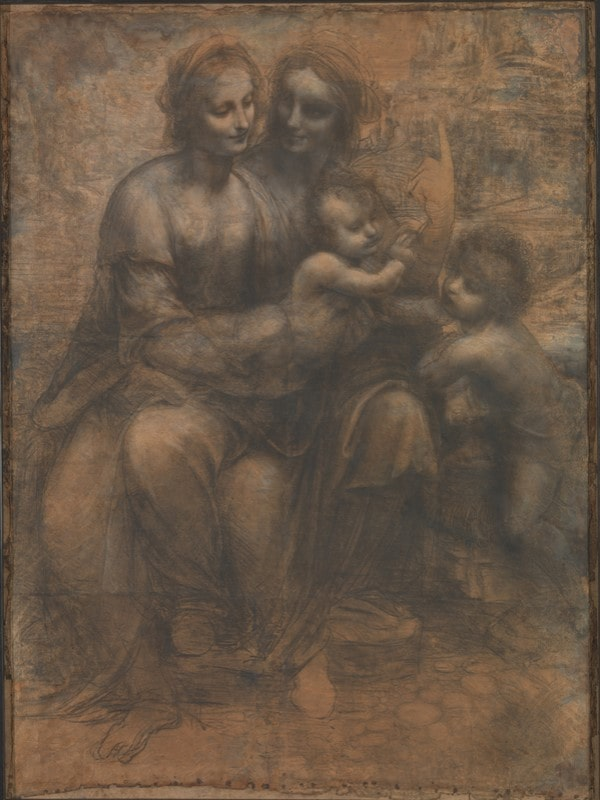 Cartone di Sant'Anna Leonardo da Vinci