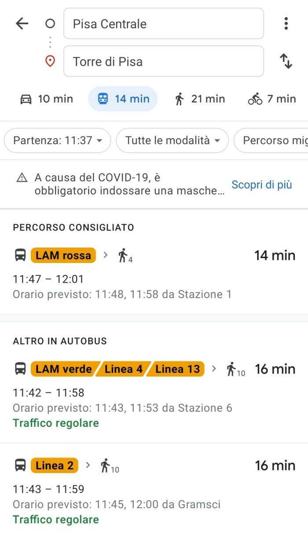 google maps indicazioni stradali